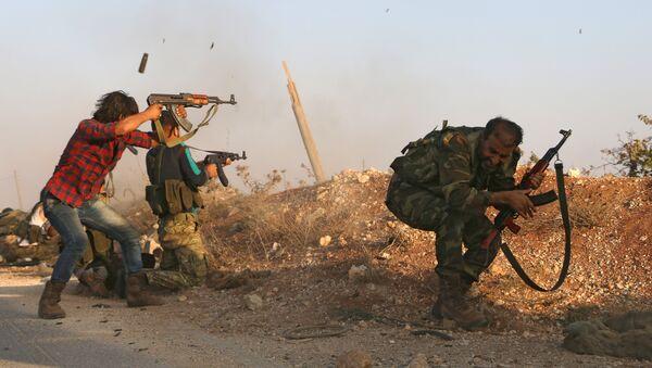 Pripadnici Slobodne sirijske vojske - Sputnik Srbija