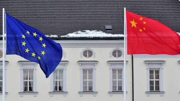 Zastave EU i Kine - Sputnik Srbija