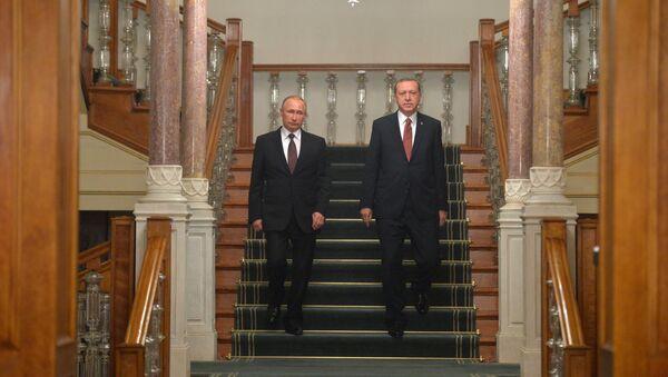 Predsednik Rusije Vladimir Putin i predsednik Turske Redžep Tajip Erdogan - Sputnik Srbija