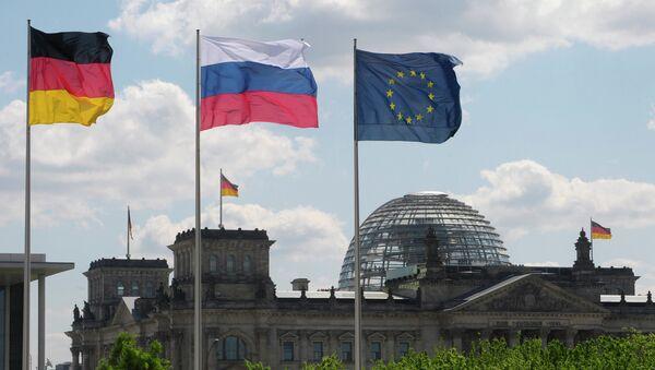 Zastave Nemačke, Rusije i EU - Sputnik Srbija