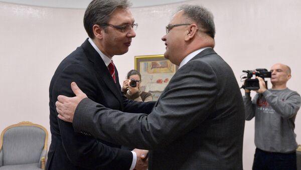 Premijer Srbije Aleksandar Vučić i predsedavajući BiH Mladen Ivanić - Sputnik Srbija