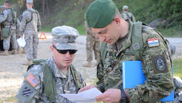 Амерички и хрватски војник - Sputnik Србија