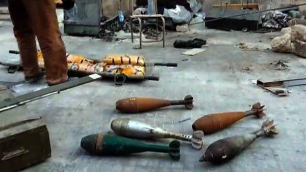 Municija pronađena u skladištima u Alepu - Sputnik Srbija