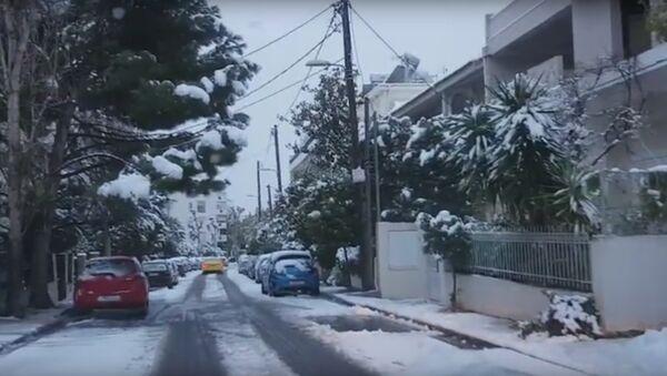 Sneg u Atini - Sputnik Srbija