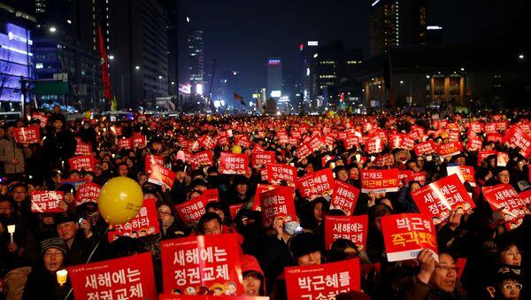 Протест у Сеулу против председнице Парк Геун-хје - Sputnik Србија