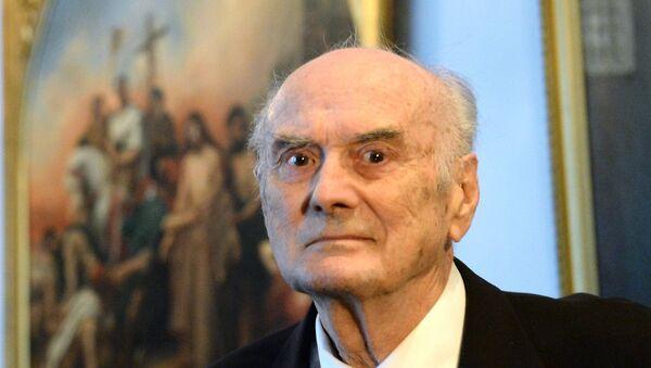 Патриаршее служение в день памяти преподобного Сергия Радонежского в Троице-Сергиевой лавре - Sputnik Србија