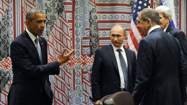 Predsednik SAD Barak Obama i predsednik Rusije Vladimir Putin - Sputnik Srbija