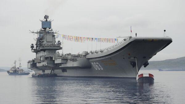Носач авиона Адмирал Кузњецов у Североморску - Sputnik Србија