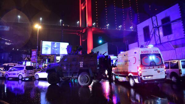 Специјалне полицијске јединице и амбулантна кола на месту терористичког напада. - Sputnik Србија