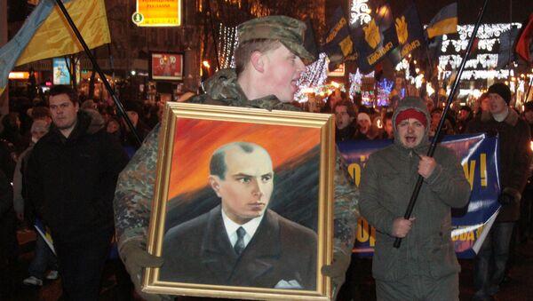 Nacionalisti nose baklje i zastave na obeležavanju rođendana Stepana Bandere - Sputnik Srbija
