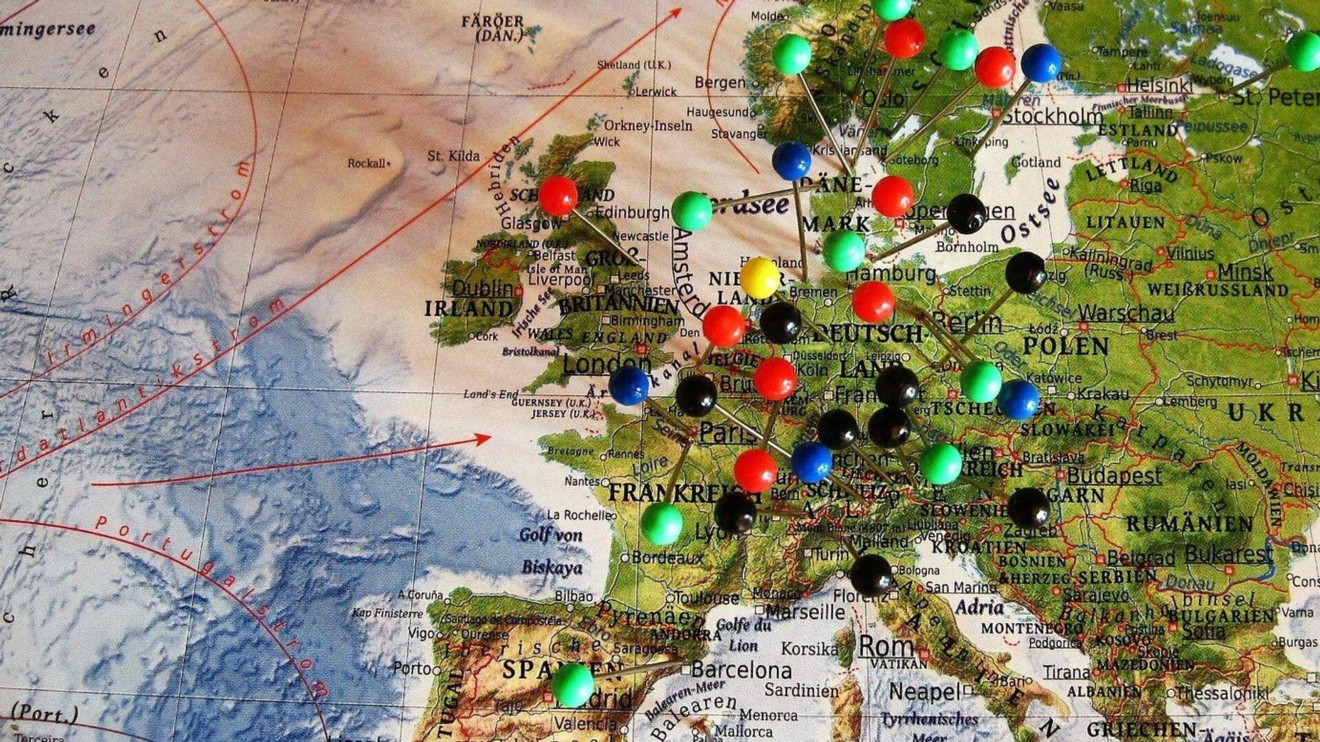Mapa Evrope - Sputnik Srbija, 1920, 07.10.2021