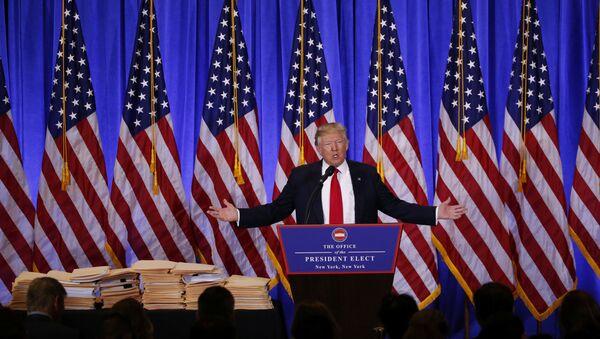 Donald Tramp na konferenciji 11. januar 2017. godine - Sputnik Srbija