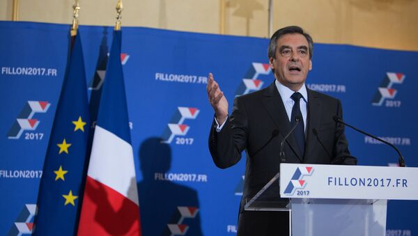 Председнички кандидат на изборима у Француској Франсоа Фијон - Sputnik Србија