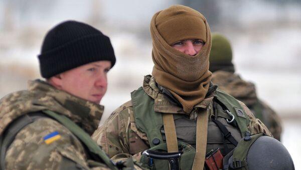 Pripadnici oružanih snaga Ukrajine u Lavovskoj oblasti - Sputnik Srbija