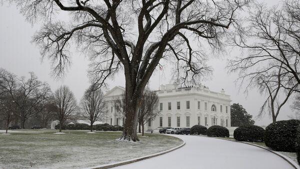 Бела кућа под снегом - Sputnik Србија