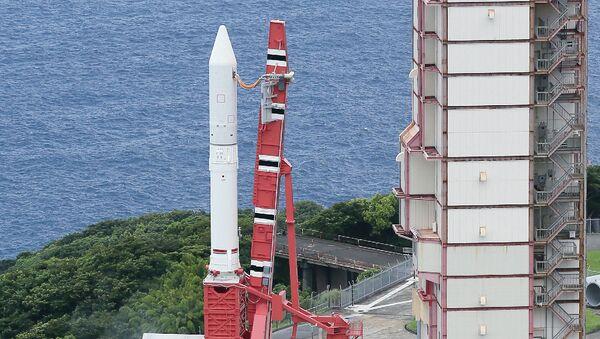 Нова ракета на чврсто гориво Јапанске агенције за свемирска истраживања у Свемирском центру Учиноура на острву Кјушу - Sputnik Србија