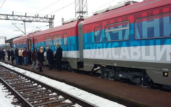 Voz na železničkoj stanici u Raški - Sputnik Srbija