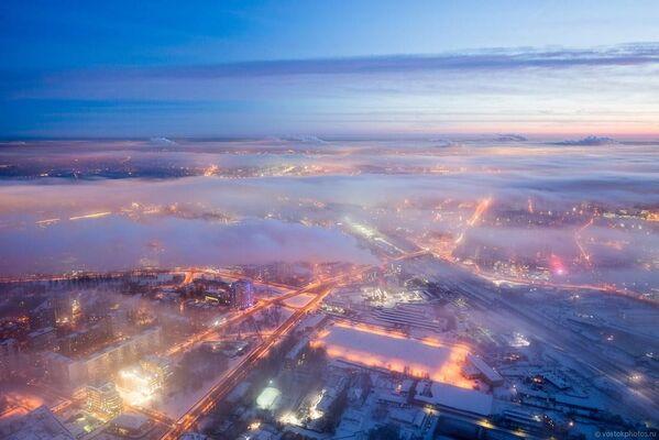 Iznad oblaka: Pogled na Moskvu - Sputnik Srbija