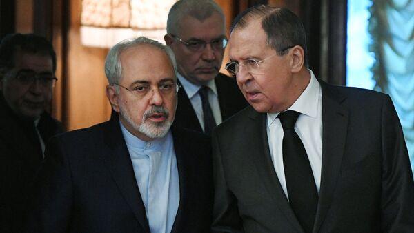 Šefovi ruske i iranske diplomatije Sergej Lavrov i Džavad Zarif - Sputnik Srbija