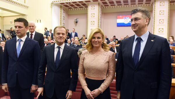 Свечана седница Хрватског сабора поводом међународног призања Републике Хрватске - Sputnik Србија