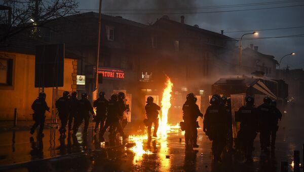 Нереди у Приштини 16, фебрауара 2016. године. - архивска фотографија - Sputnik Србија