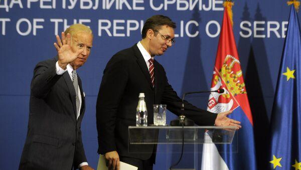 Džo Bajden i Aleksandar Vučić  - Sputnik Srbija