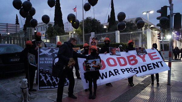 Протести против Обаме у Атини, Грчка - Sputnik Србија