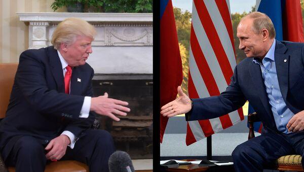 Председник САД Доналд Трамп и председник Русије Владимир Путин - Sputnik Србија