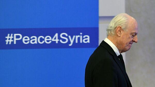 Специјални изасланик генералног секретара УН за Сирију Стафан де Мистура на преговорима у Астани - Sputnik Србија