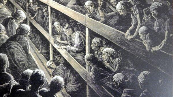 Уље на платну, Холокауст. слика која се налази у музеју у Вашингтону, САД - Sputnik Србија