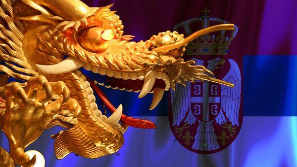 Kineski zmaj i srpska zastava - Sputnik Srbija