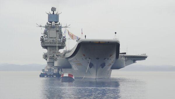 Nosač aviona Admiral Kuznjecov u Severomorsku - Sputnik Srbija