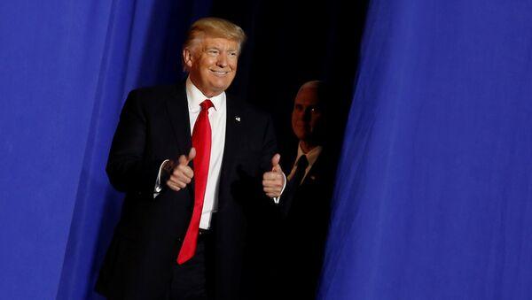Председник САД Доналд Трамп у седишту Агенције за унутрашњу безбедност у Вашингтону - Sputnik Србија