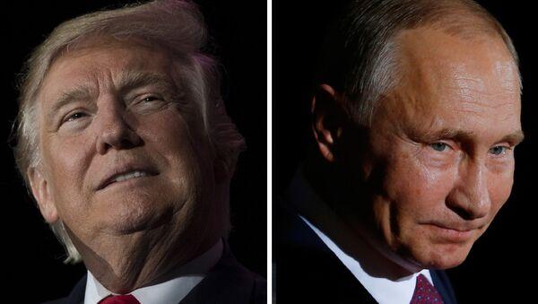 Predsednici Rusije i SAD Vladimir Putin i Donald Tramp - Sputnik Srbija