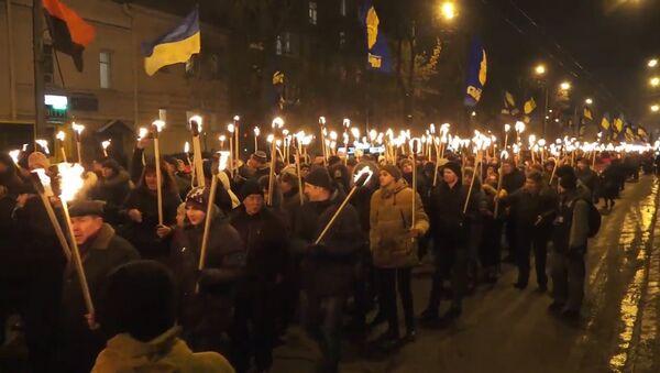 Šetnja s bakljama u Kijevu - Sputnik Srbija