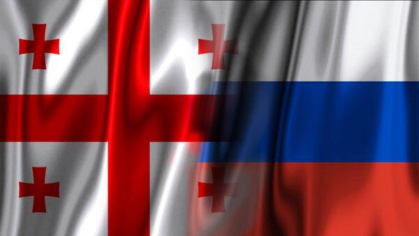 Заставе Грузије и Русије - Sputnik Србија