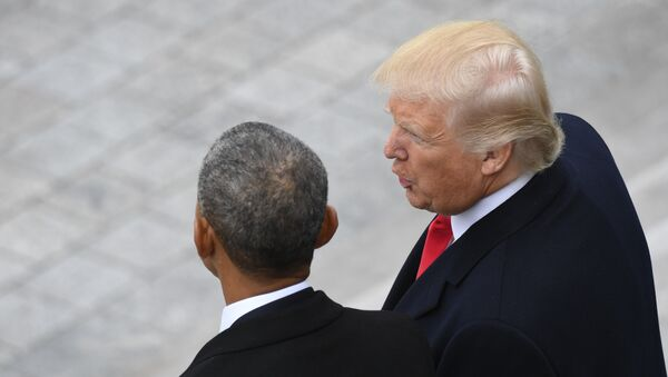 Барак Обама и Доналд Трамп - Sputnik Србија