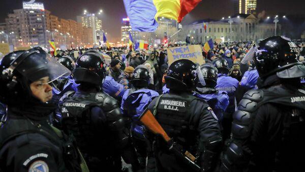 Protest u Rumuniji - Sputnik Srbija
