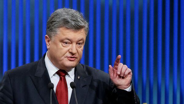Ukrajinski predsednik Petro Porošenko na konferenciji za medije u Kijevu - Sputnik Srbija