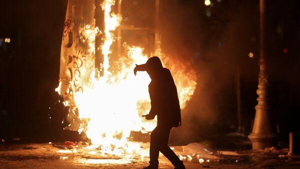 Datalj sa protesta u Bukureštu, 01.02. 2017.Rumunija - Sputnik Srbija