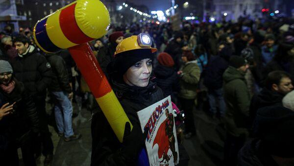 Demonstracije u Bukureštu, Demonstracije u Bukureštu, 29. januara, Rumunija - Sputnik Srbija