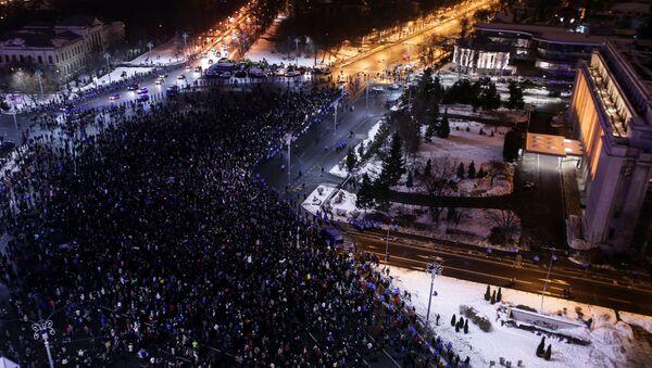 Demonstracije u Bukureštu, 1. februara, Rumunija - Sputnik Srbija