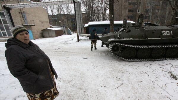 Evakuacija žitelja u Donjecku, Ukrajina - Sputnik Srbija