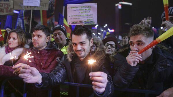 Slavlje demonstranata u Bukureštu - Sputnik Srbija