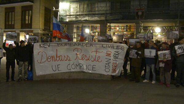 Miting u znak podrške Donbasu - Sputnik Srbija