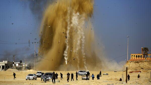 Napad Izraelaca na utvrđenje Hamasa u Pojasu Gaze - Sputnik Srbija