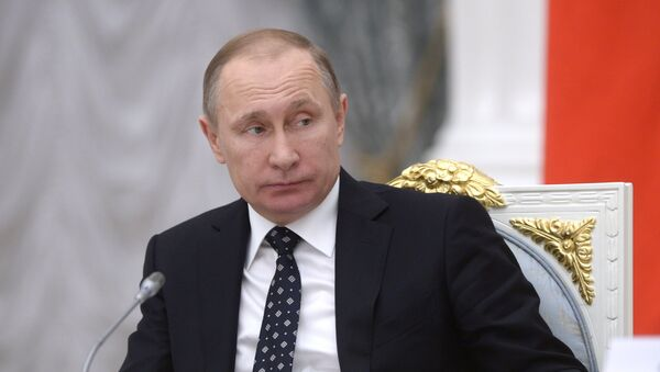 Председник Русије Владимир Путин током заседања Савета за науку и образовање - Sputnik Србија