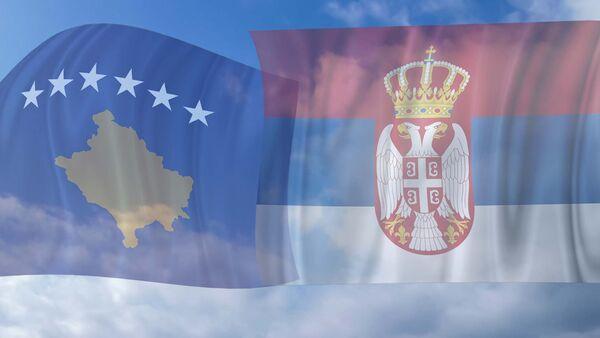 Zastave tzv. Kosova i Srbije - Sputnik Srbija