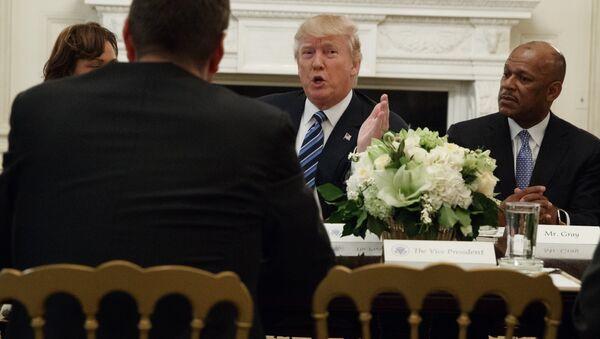 Predsednik SAD Donald Tramp tokom sastanka u Beloj kući u Vašingtonu - Sputnik Srbija