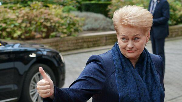Председница Литваније Даља Грибаускајте пре отварања самита ЕУ у Бриселу - Sputnik Србија